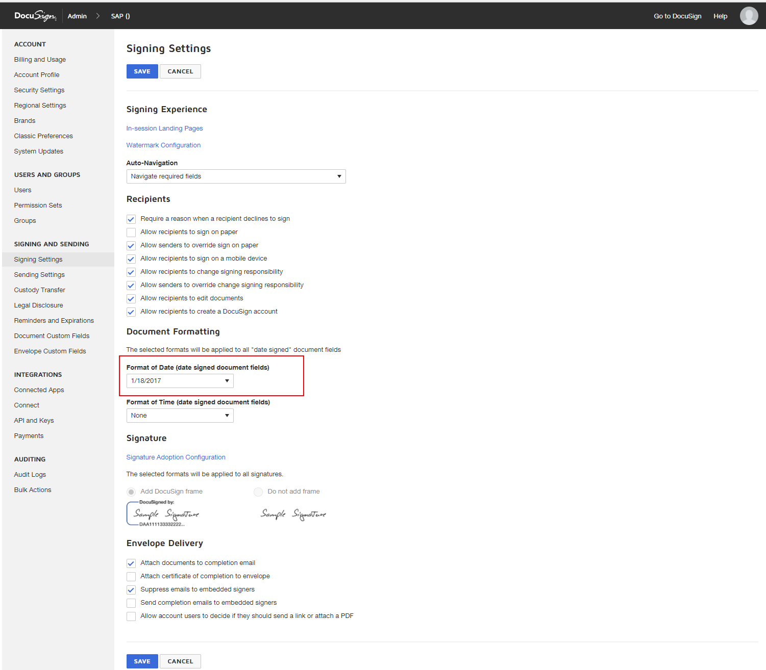 DocuSign Admin signing settings configuration.png