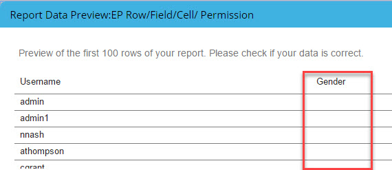 Report result for report created before EP field switch i