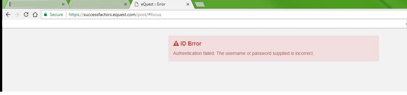 eQuest authentication failed error.PNG