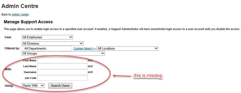 Manage Support Access search.png